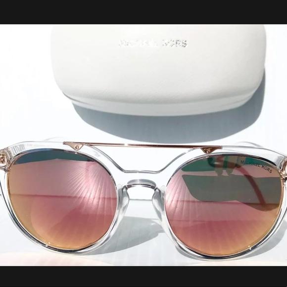 MICHAEL KORS CLEAR frame women's Sunglasses